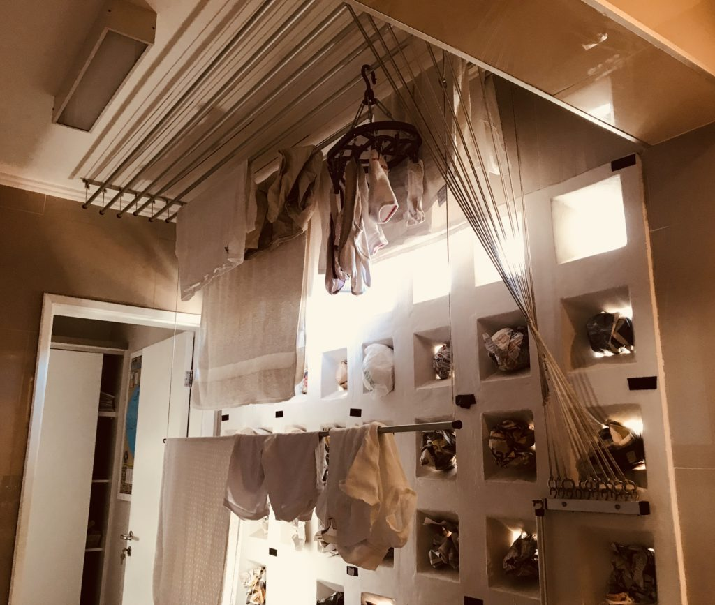 Drying clothes at home