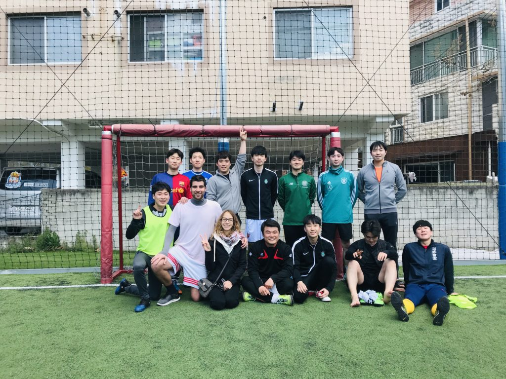 Football with Korean Friends